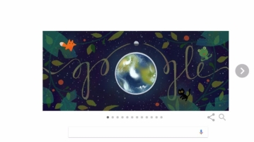 Google's Earth Day 2017 doodle. (Photo Courtesy: Google Screengrab)