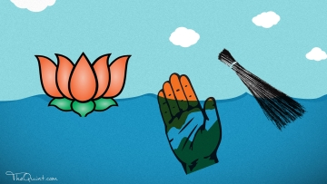 Anti-incumbency played spoilsport for the AAP in MCD elections, pary should learn lessons from the defeat and move on. (Photo: Rhythum Seth/ <b>The Quint</b>)