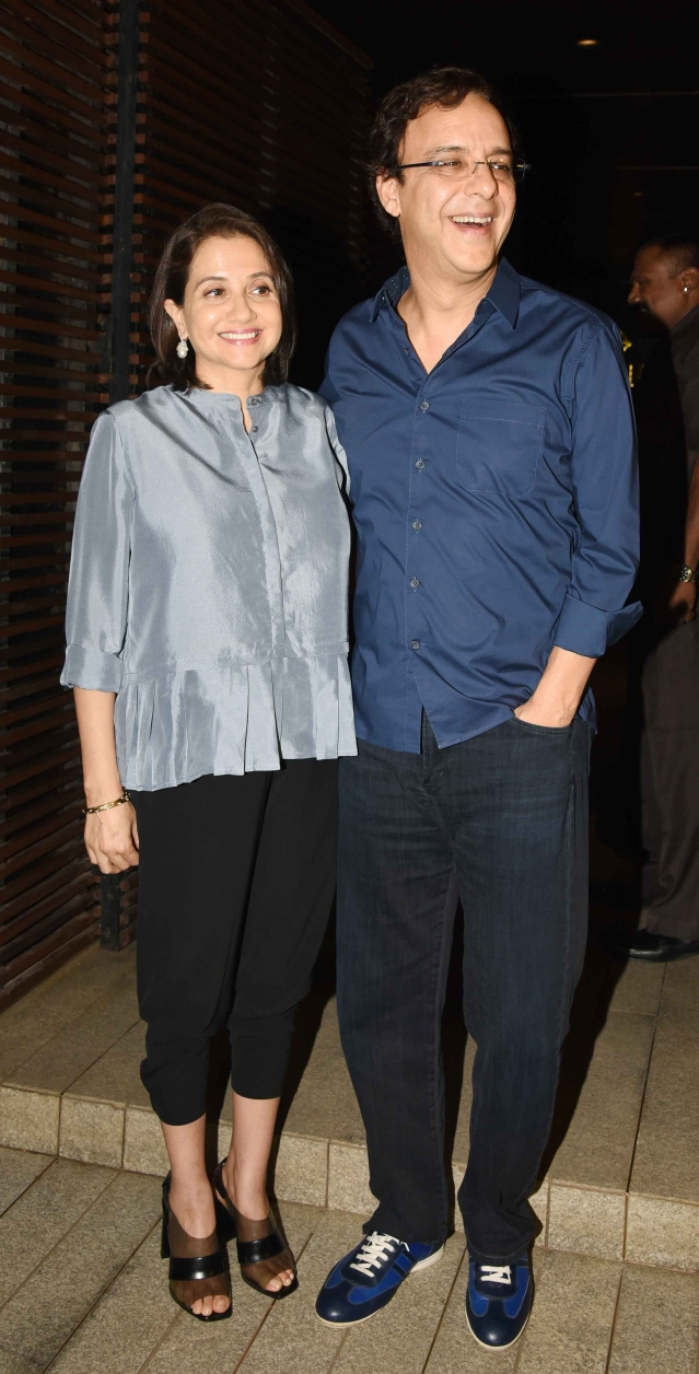 Anupama Chopra and Vidhu Vinod Chopra are all smiles to see PC. (Photo: Yogen Shah)