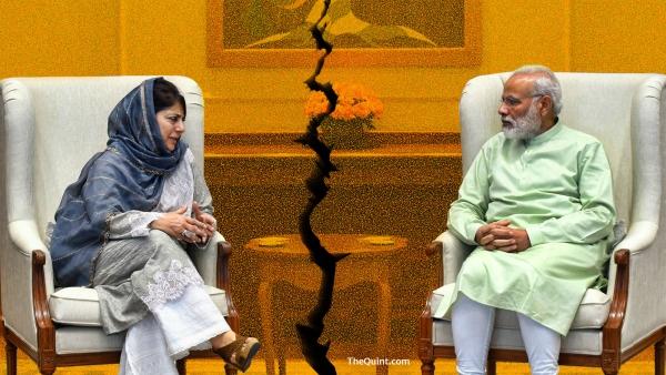 Why did Modi break the alliance with Mufti?