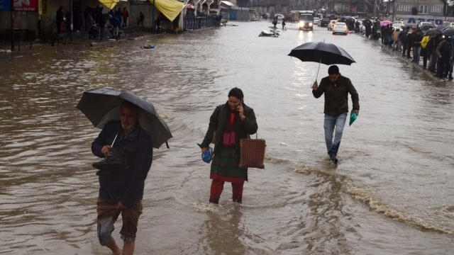 Jammu and Kashmir was hit by floods in 2014.