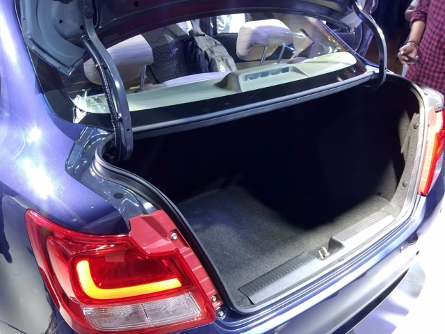 The Dzire's boot space is now 376 litres. (Photo: <b>The Quint</b>)