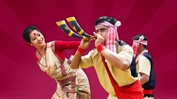 A representative image of Rongali Bihu celebrations. (Photo: <b>The Quint</b>)