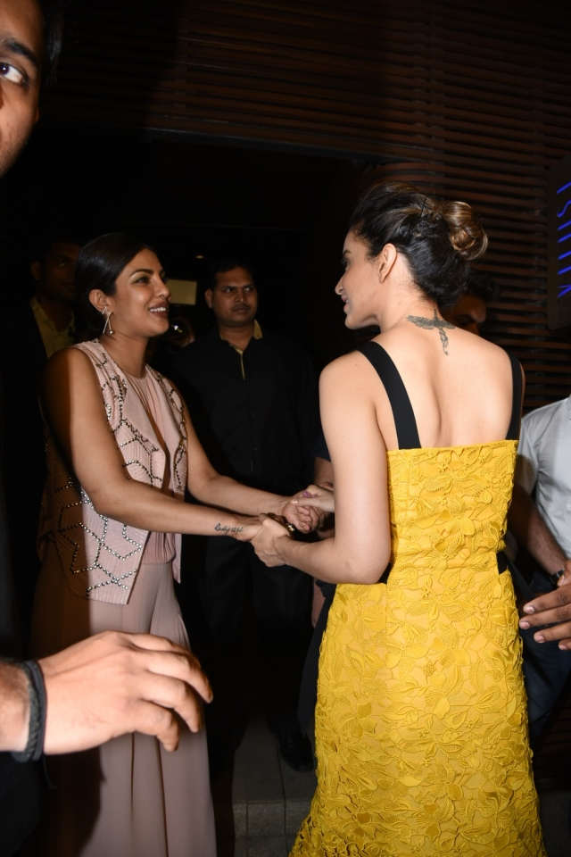 PC and Kangana enjoy each other's company. (Photo: Yogen Shah)