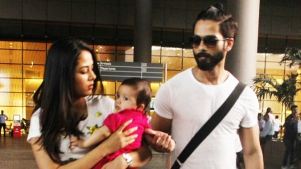 Mira Rajput with Shahid and Misha. (Photo: Yogen Shah)