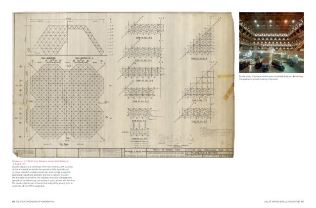 "Plans, Elevation, Section (Hall of Nations) dated 16 August 1971. (Photo: Copyright Mahendra Raj Archive via<a href=""https://architexturez.net/doc/az-cf-123722"">Architexturez.net</a>)"
