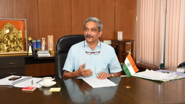 A file photo of Manohar Parrikar in Goa in March 2017.