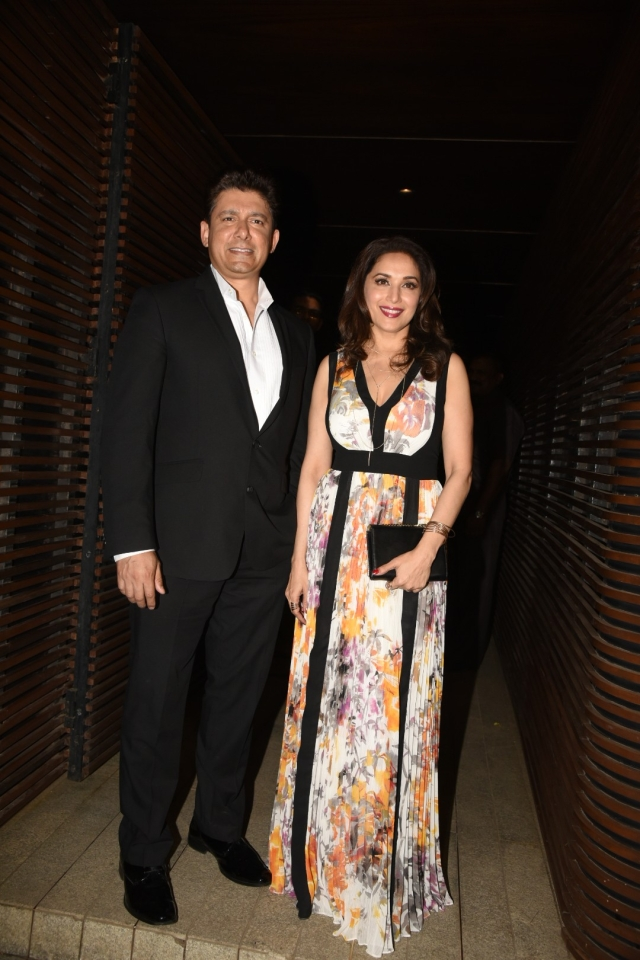 Madhuri Dixit poses with her husband Sriram Nene. (Photo: Yogen Shah)