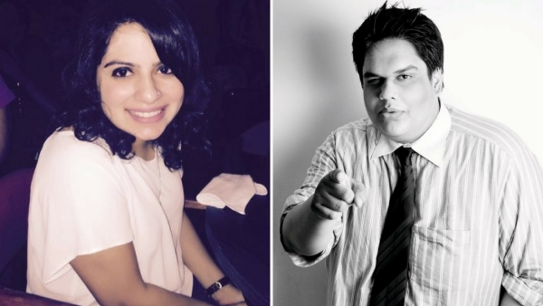 Mallika Dua and Tanmay Bhat have an important message on mental health. (Photo courtesy: Twitter/altered by <b>The Quint</b>)