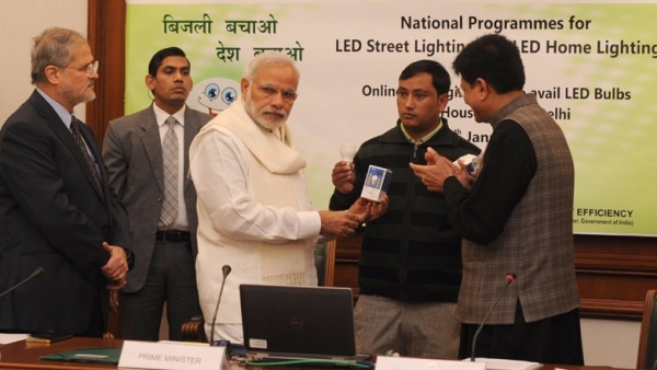 Modi's UJALA scheme has reportedly helped save ₹11,000 crore in electricity bills, in households across the country. (Photo Courtesy: pmindia.gov.in)
