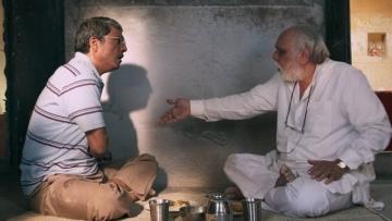 """A scene from 'Mukti Bhawan'. (Photo Courtesy: <a href=""""https://twitter.com/leviaingenia"""">@leviaingenia</a>/Twitter)"""