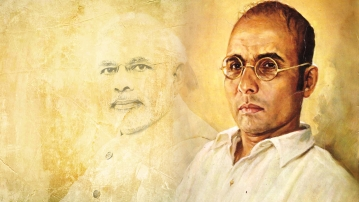 VD Savarkar was an early proponent of militant Hindutva in India's fight against the British.