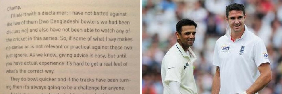 How Dravids Letter To Pietersen Helped Improve English Cricket