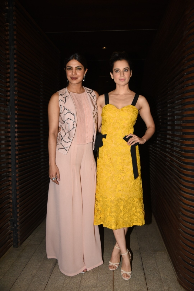Priyanka and Kangana, standing tall together. (Photo: Yogen Shah)