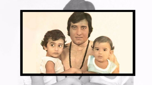A photograph of Vinod Khanna with his sons Rahul and Akshaye.