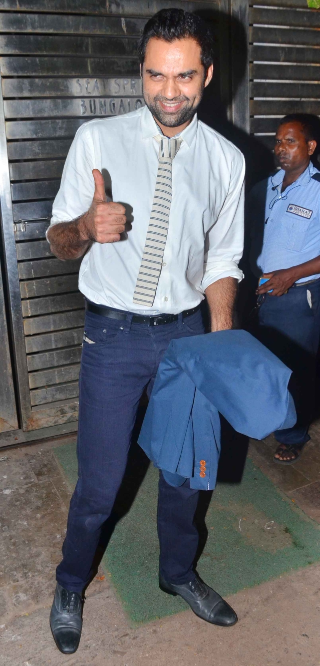While every body is in causal summer wear Abhay Deol opted for formals.(Photo: Yogen Shah)