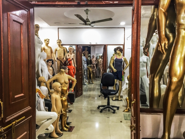 Finished mannequins in the warehouse. (Photo Courtesy: Erum Gour/The Quint)