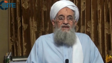 In this file image released on 4 September 2014, taken from video, Ayman al-Zawahri, head of Al Qaeda, delivers a statement in a video which was seen online by the SITE monitoring group. (Photo: AP)