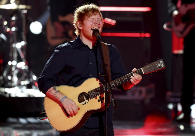 Ed Sheeran during a performance. (Photo: Reuters)