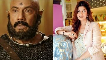 Sathyaraj as Kattappa in <i>Baahubali 2 </i>and Twinkle Khanna.