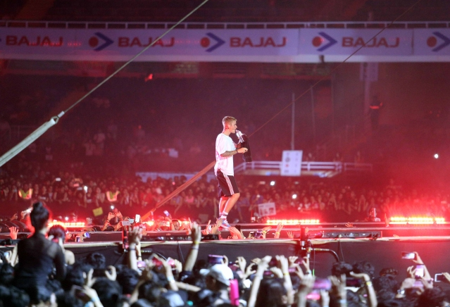 Justin sang <i>Sorry</i>, <i>Mark My Words</i>, <i>Where Are You Now</i>,<i>Get Used To It </i>among other songs<i>. </i>(Photo: Yogen Shah)