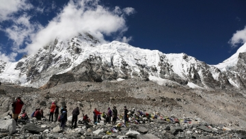 Trekkers rest at Everest Base Camp, Nepal, 2015. Image used for representational purpose. (AP Photo/Tashi Sherpa)