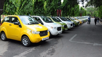 Mahindra E2O is one of the few electric cars available in India. (Photo Courtesy: Mahindra Electric)
