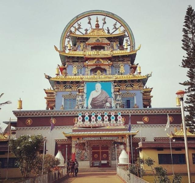 "Namdroling Monastery at the Tibetan settlement in Bylakuppe,  Coorg. (Photo Courtesy: Twitter/<a href=""https://twitter.com/DigKaleidoscope"">@DigKaleidoscope</a>)"