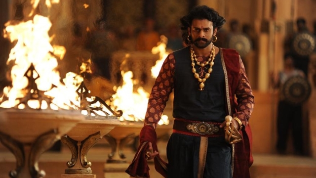 Prabhas in a scene from <i>Bahubali 2: The Conclusion.</i>