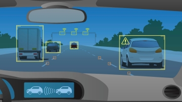 Cars embedded with chips respond to signals they receive.