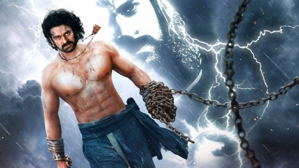 Prabhas in a still from <i>Baahubali.</i>