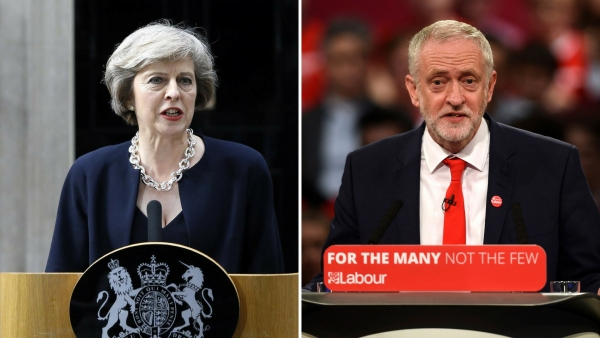 British Prime Minister Theresa May and Labour Party leader Jeremy Corbyn. (Photos: AP)