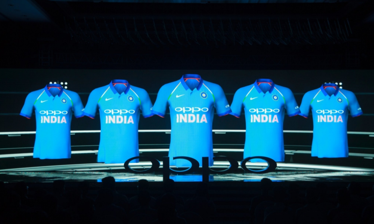 a572771274d In Pictures  Evolution of India s Cricket Jersey from 1985 to 2017
