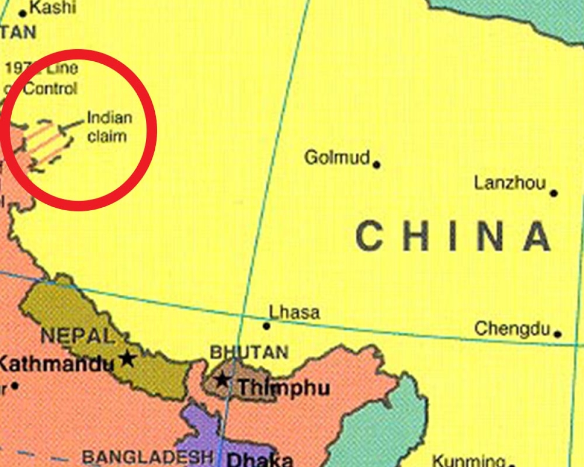 Aksai chin belongs to china according to ncert class 12 textbook photo courtesy a hrefhttpepathshalac gumiabroncs Images
