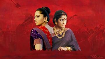 The two main women characters in <i>Baahubali 2</i>: Devasena played by Anushka Shetty (L) and Sivagami played by Ramya Krishnan (R). (Photo: Lijumol Joseph/<b>The Quint</b>)