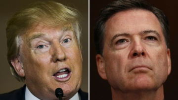 US President Donald Trump and former FBI Director James Comey. (Photo: Reuters)