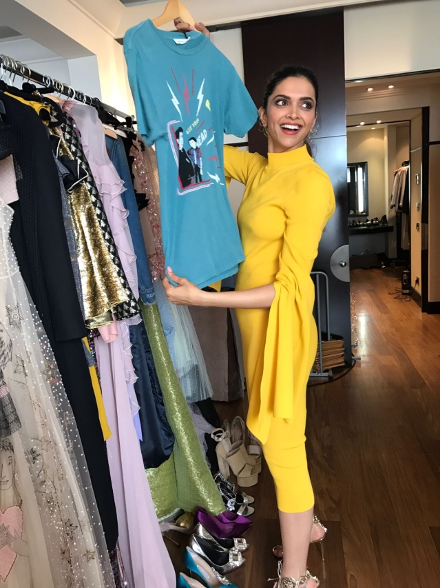 Deepika playing dress up at Cannes 2017. (Photo courtesy: L'Oréal)