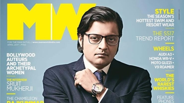 "Arnab Goswami was on the Arpil cover of Man's World Magazine. (Photo Courtesy: <a href=""https://www.facebook.com/mansworld.ind/photos/a.156168891061593.31237.156167864395029/1517688881576247/?type=3&theater"">@mansworld.ind</a>)"