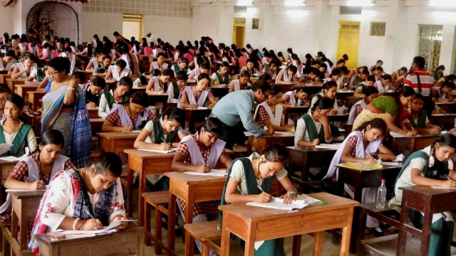 Students appearing for their board exams.
