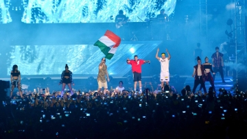Justin Bieber at the India concert. (Photo: Yogen Shah)