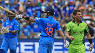 Virat Kohli celebrates a fifty during the ICC World Cup match against Pakistan. (Photo: AP)