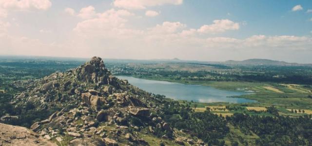 "A top view from Kunti Betta. (Photo Courtesy: Twitter/<a href=""https://twitter.com/AprameyaAshok"">@<b>AprameyaAshok</b></a>)"