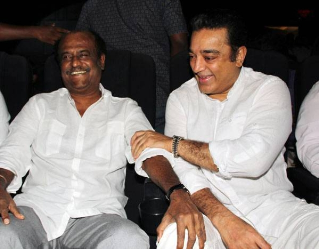 Kamal Haasan opens up on Rajinikanth's political future. (Photo courtesy: Twitter)