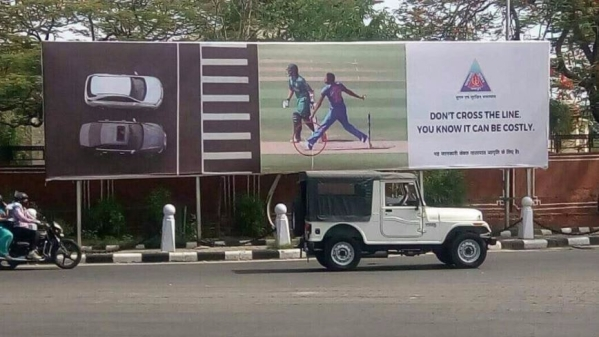 The Jaipur Traffic Police hoarding. (Photo Courtesy: Twitter/JB)