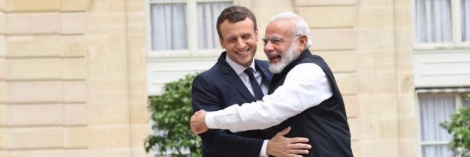 Image result for Macron modi