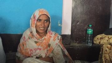 Junaid's mother Saira Bano at her home in Ballabgarh.