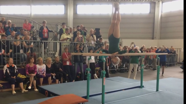 Ninety-one-year-old Johanna Quaas is the world's oldest gymnast. (Photo: Screen grab)