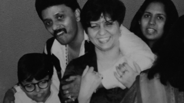 Neelam and Shekhar Krishnamoorthy with their son Ujjwal & daughter Unnati.