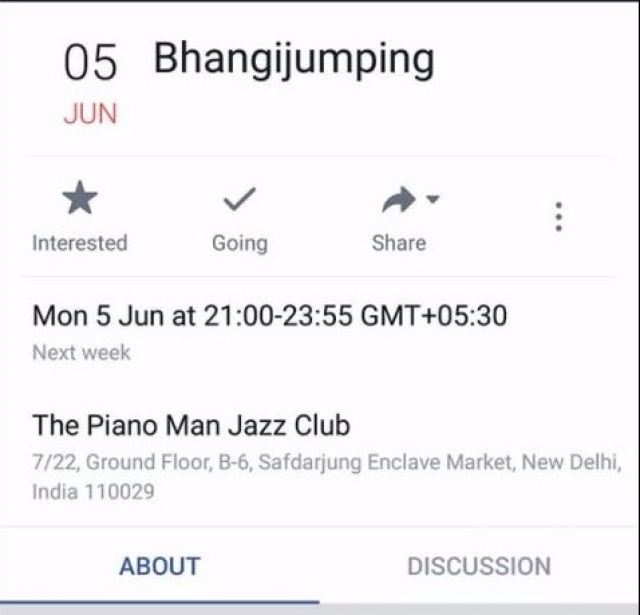 The original event shared by the jazz club on its Facebook page. (Photo Courtesy: Facebook Screengrab / The Piano Man Jazz Club)