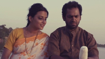 Jyoti Sethi and Sharib Ali Hashmi in a scene from <i>Phullu</i>.
